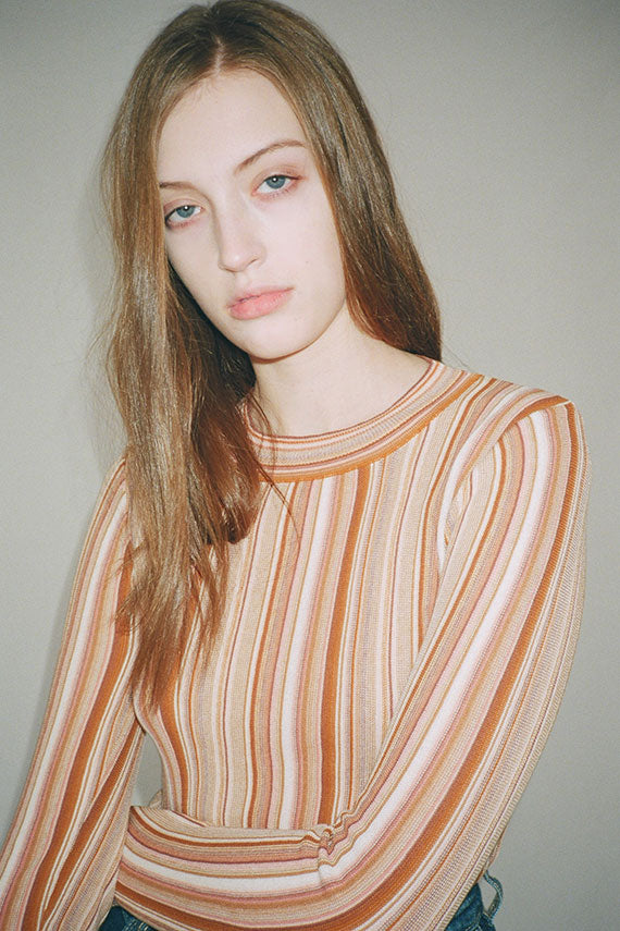 Terracotta Vala Stipe Sweater
