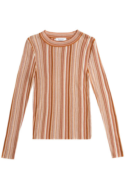 Rodebjer Terracotta Vala Stipe Sweater