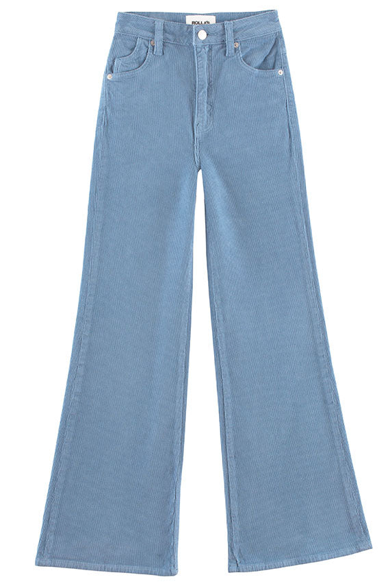 Rolla's - Dusty Blue Cord Eastcoast Crop Flare
