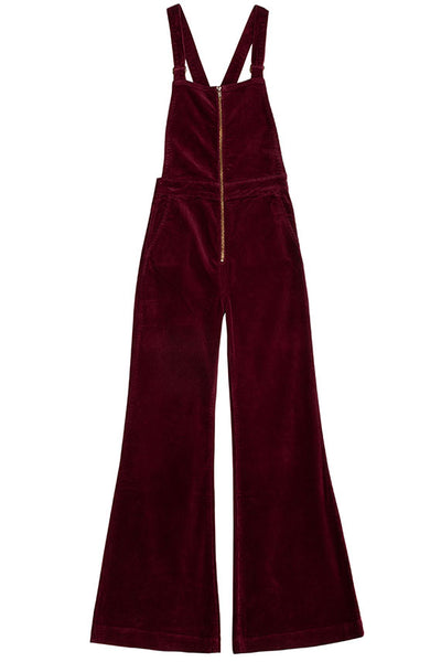Bordeaux Cord Eastcoast Flare Overall