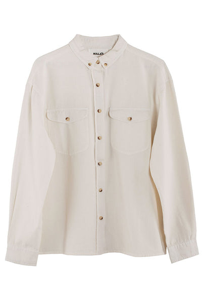 Cream Slouch Shirt