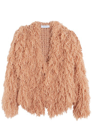 Adobe Furry Cardigan