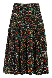 Black Illuminated Freda Skirt