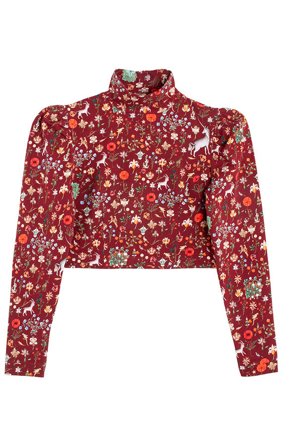 Crimson Illuminated Spirit Blouse