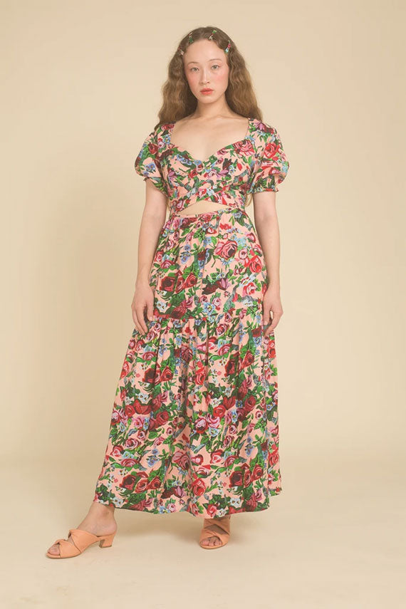 Painted Floral Muse Dress
