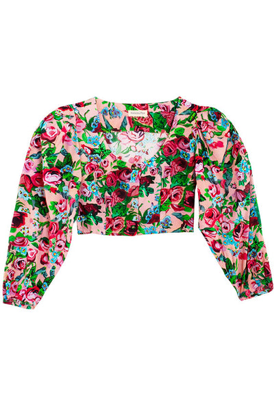 Painted Floral Troubadour Blouse