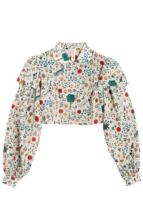 Ivory Illuminated Doublet Blouse