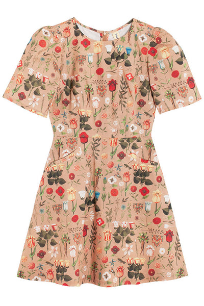 Peach Blossom Bouquet Dress