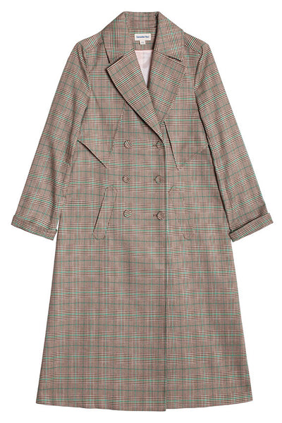 Plaid Tennyson Trench Coat