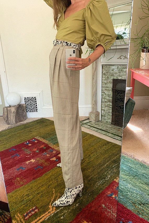 Plaid Aya Trouser