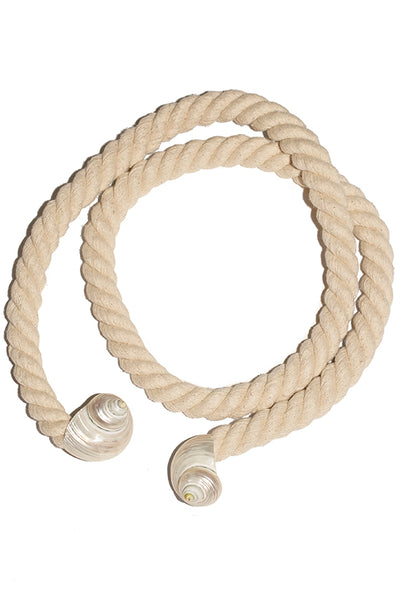 Seashell Rope Belt