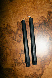 "Eggplant 10"" Hex Taper Candles"