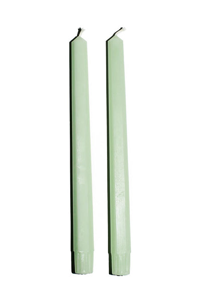 "Mint 10"" Hex Taper Candles"