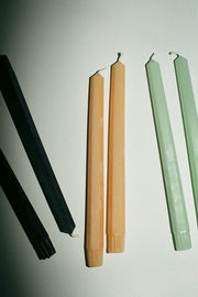 "Tangerine 10"" Hex Taper Candles"