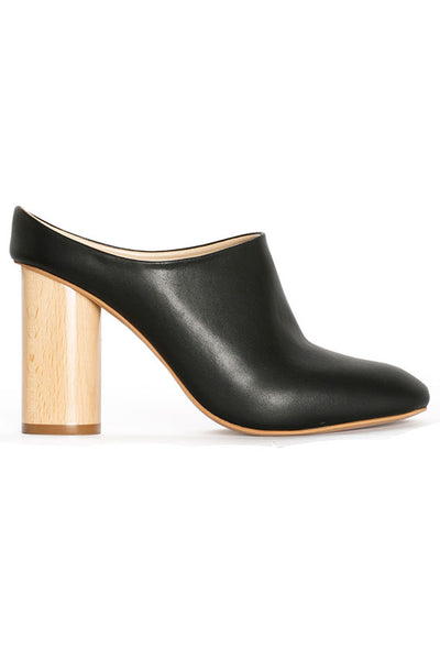 Vegan Black High Mule