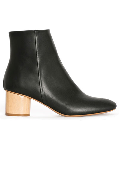 Vegan Black Low Ankle Boot