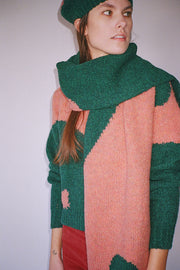 Teal & Coral Coco Scarf
