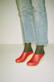Red New School Clog