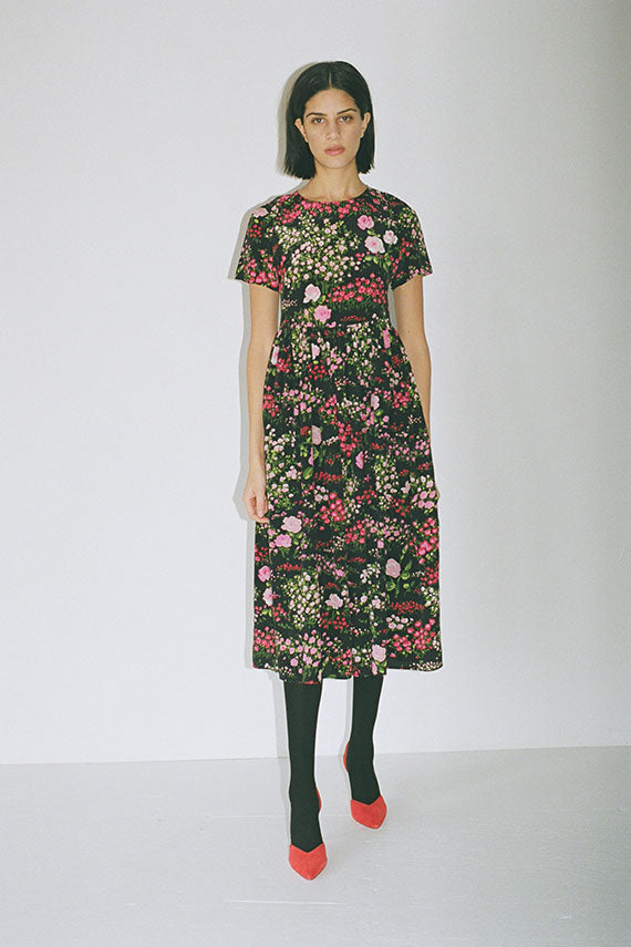 Black English Garden Maeve Dress
