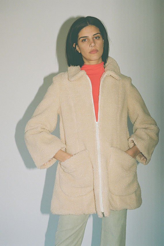Ivory Faux Shearling Willow Coat