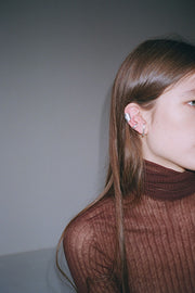 Silver Large Bubble Ear Cuff