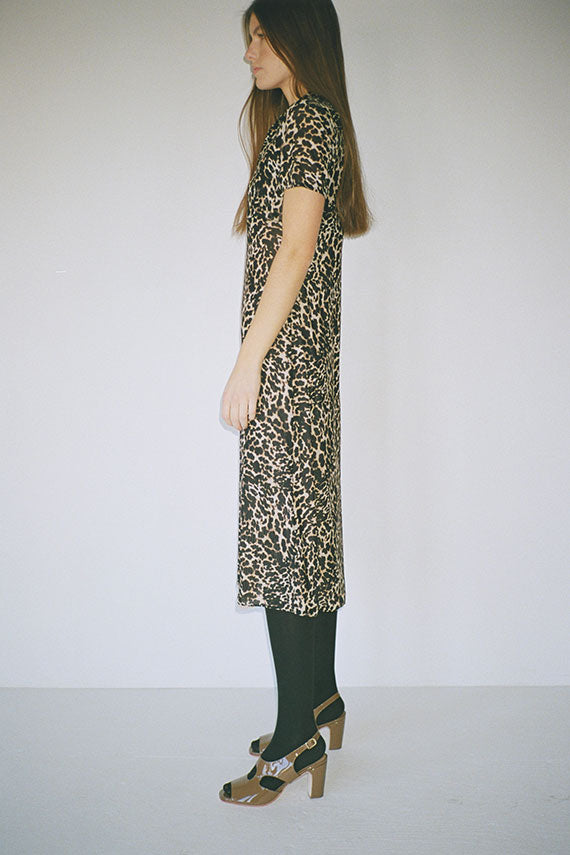 Leopard Mesh Serena Polo Dress