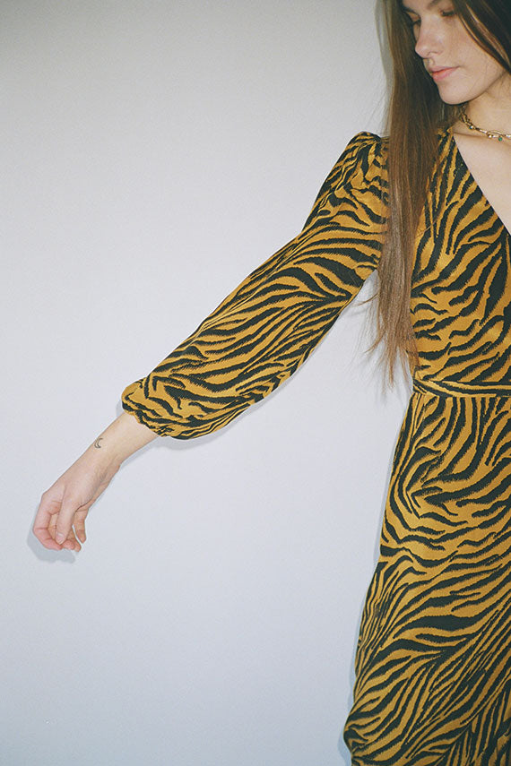 Zebra Noma Wrap Dress