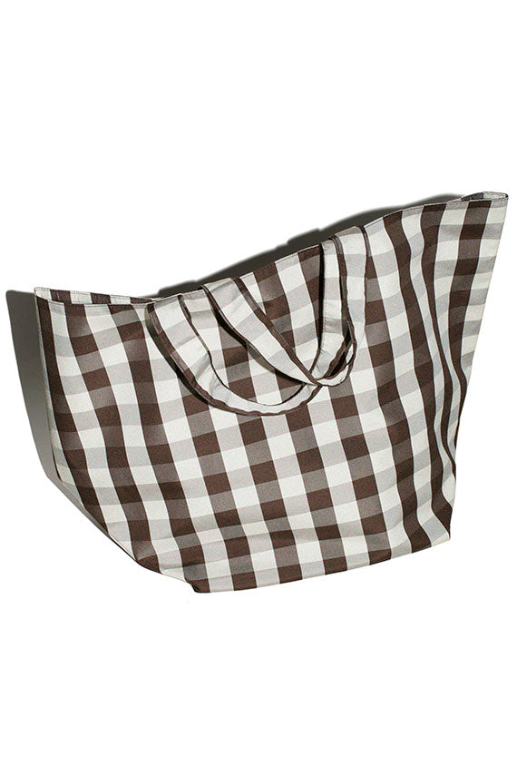 Gingham Grocery Tote