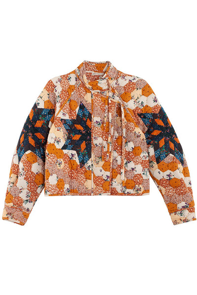 Ulla Johnson cropped quilt patterned jacket