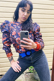 Midnight Floral Willa Blouse