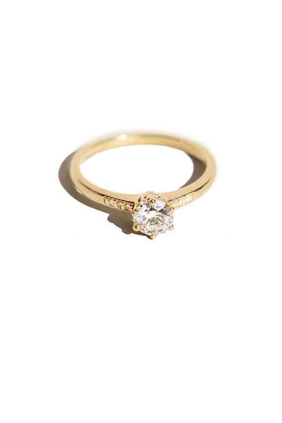 White Diamond Hazeline Solitaire