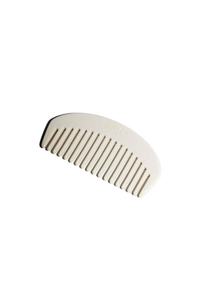 pocket size opaque white acrylic ravel comb handmade in France