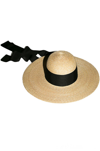 Black Neptune Straw Hat