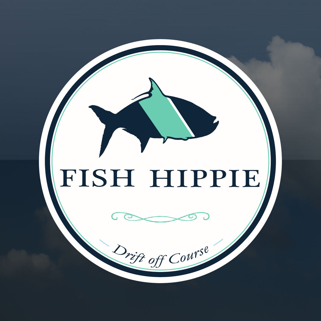 Fish Hippie Sticker/Window Sticker