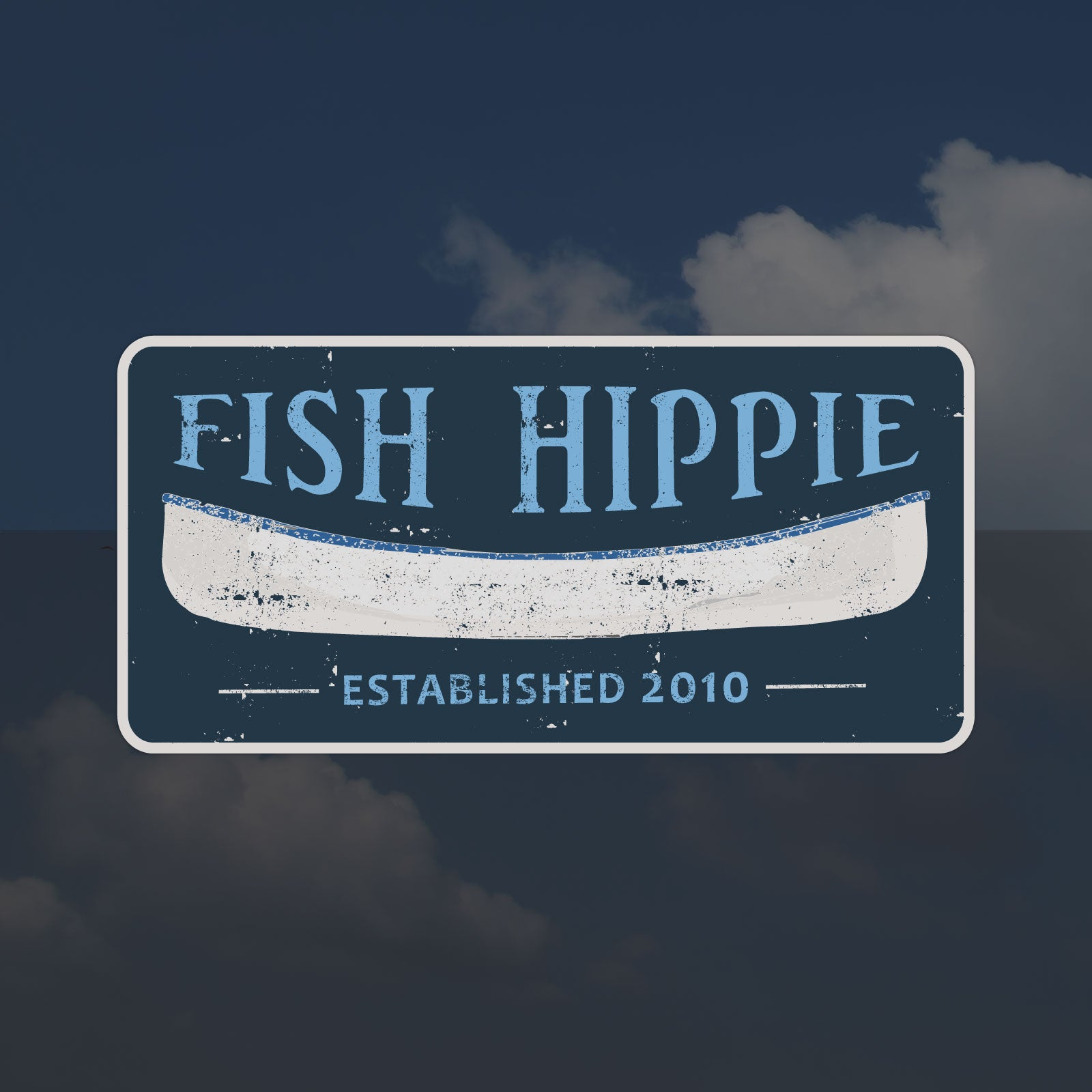 Fish Hippie Canoe Sticker