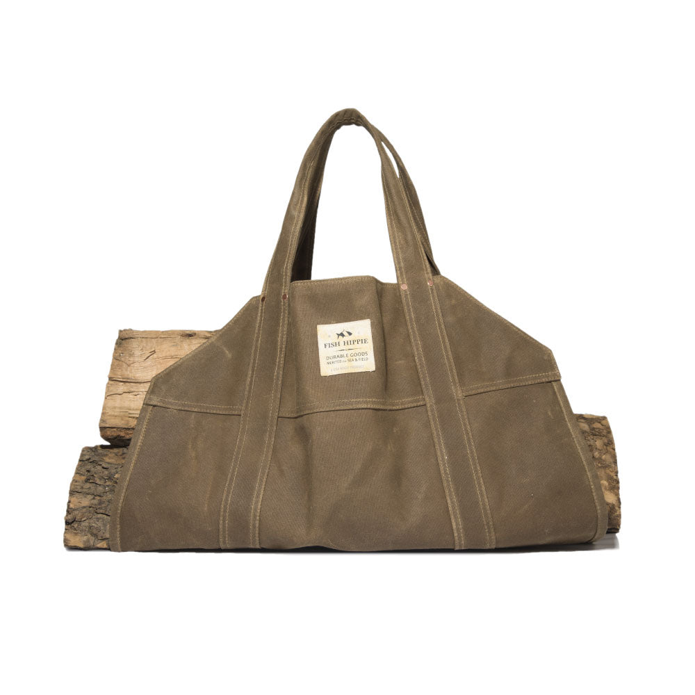 Canvas Log Carrier Bag