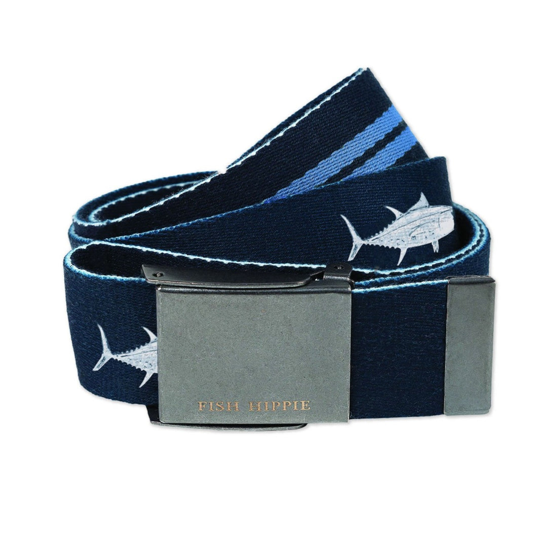 Single Web Printed Belt Tuna - Blue