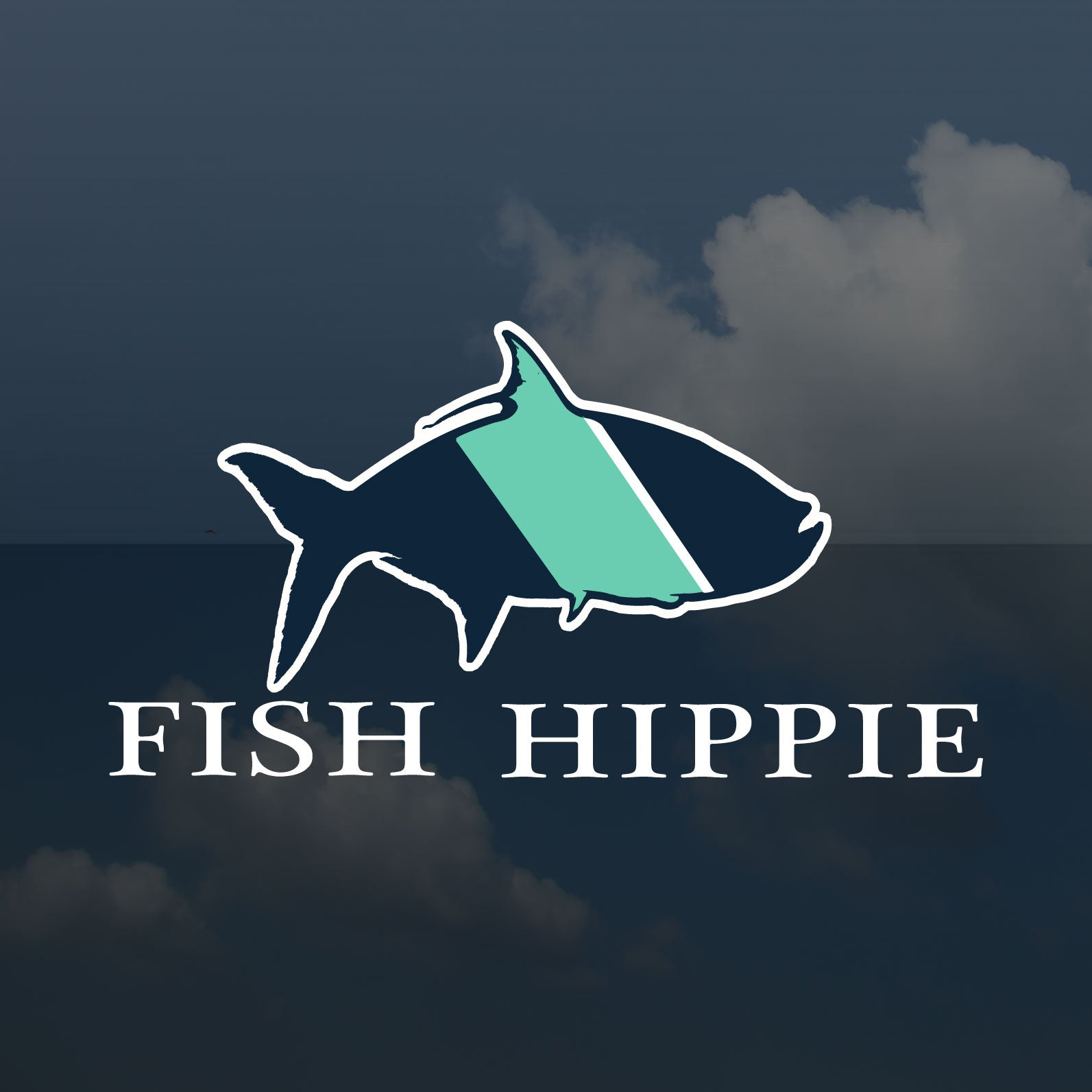 Fish Hippie Sticker Die-Cut Window Sticker