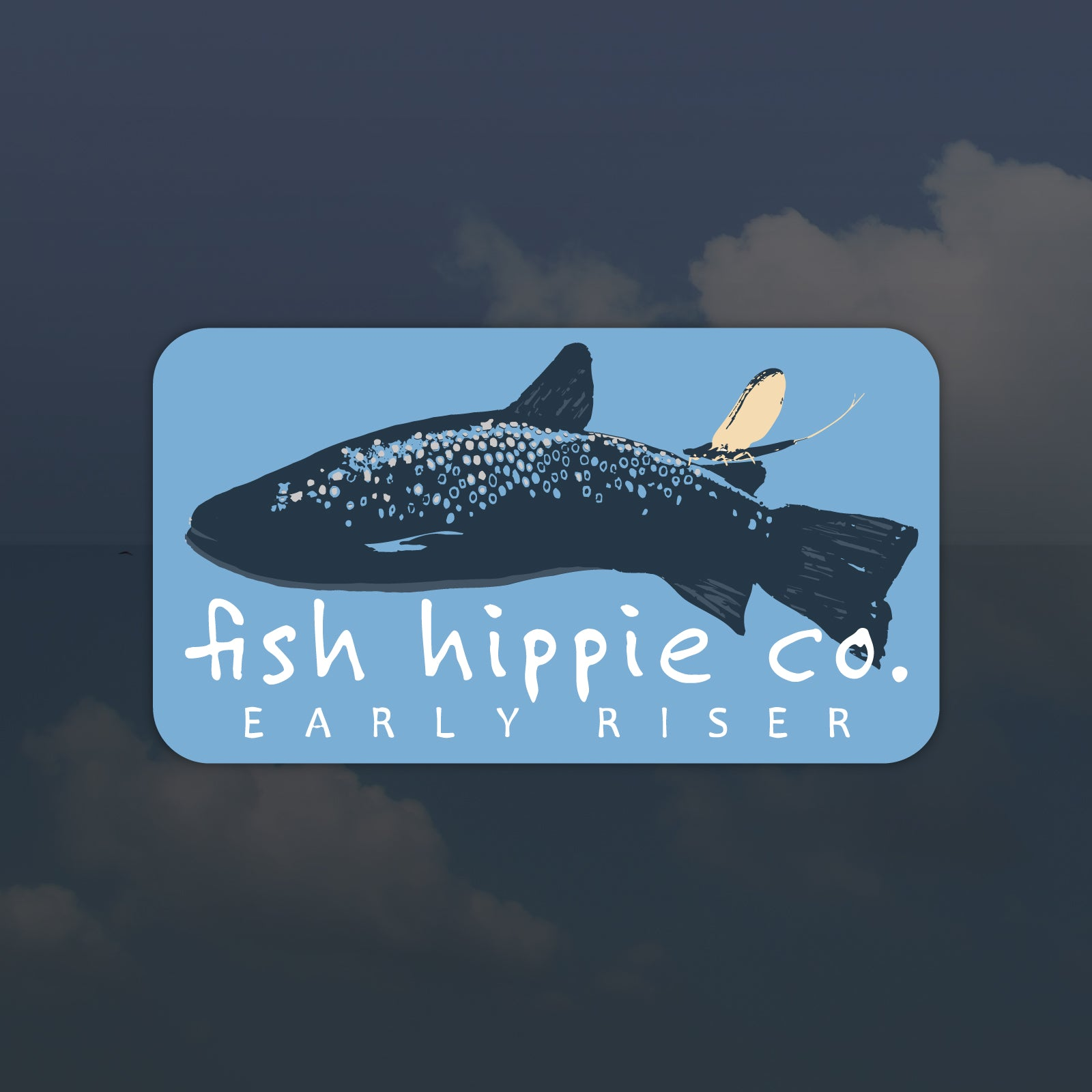 Fish Hippie Early Riser Sticker
