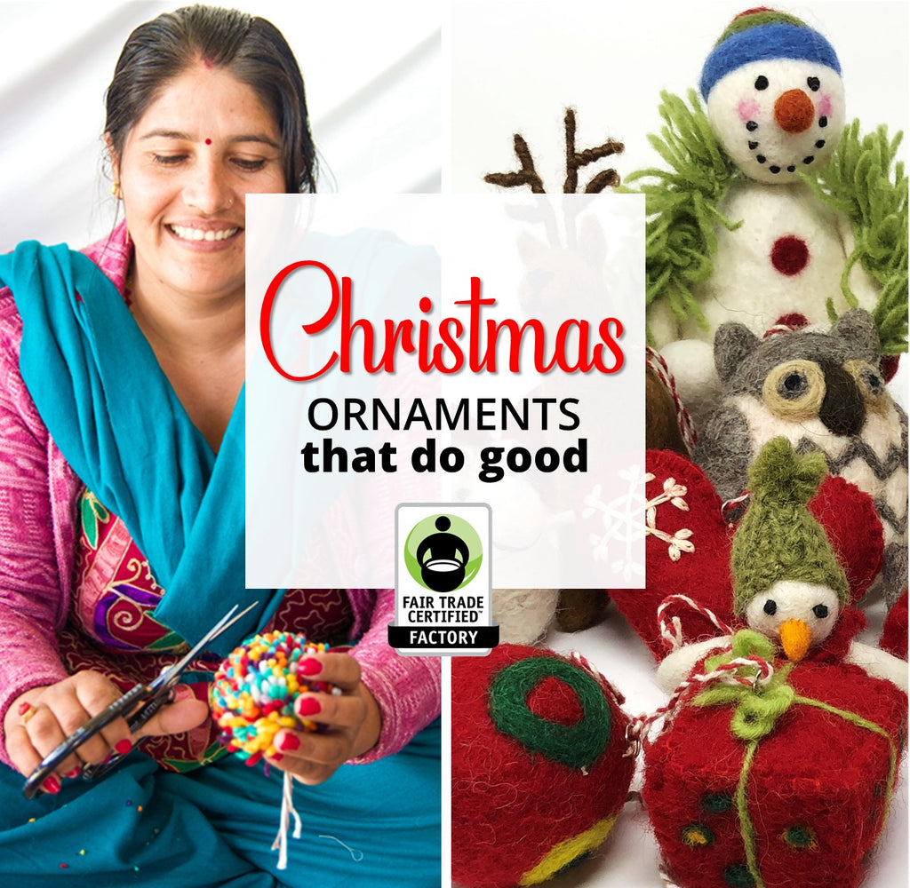 Traditional Felted Wool Ornaments Add Extra Cheer to Christmas