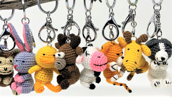 Crochet keychains never go out of style