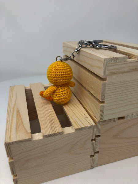 Yellow Ducky Crochet Keychain