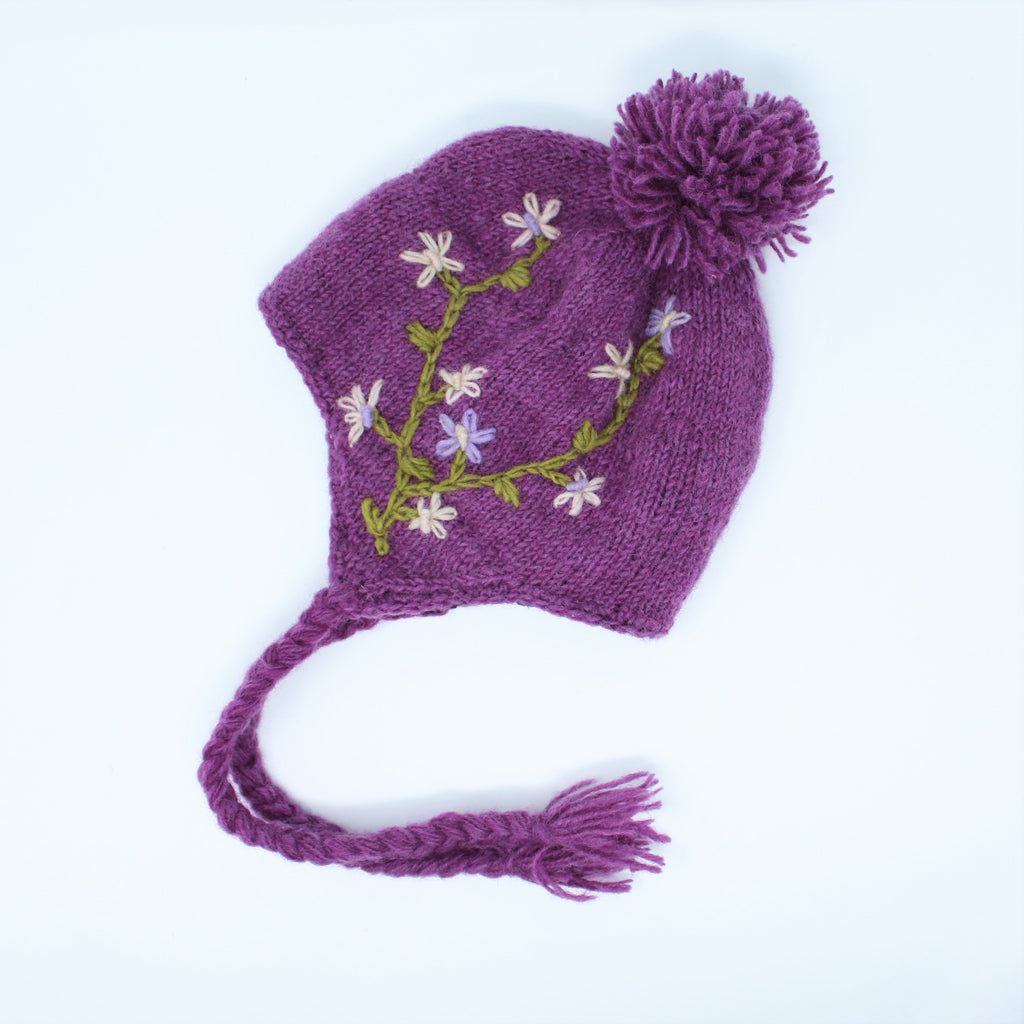 ead8c4fda8e Nepal Hand Knitted Wool Phula Earflap Hat - Cold Weather Hat