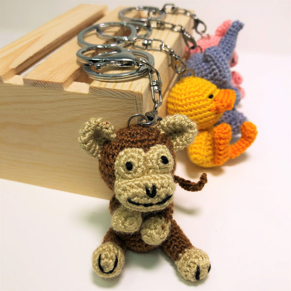 Playful Monkey Keychain