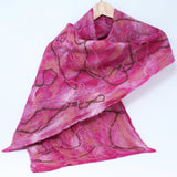 Merino Wool Felted Women Scarf - Hot Pink Canvas, Warm and Lightweight