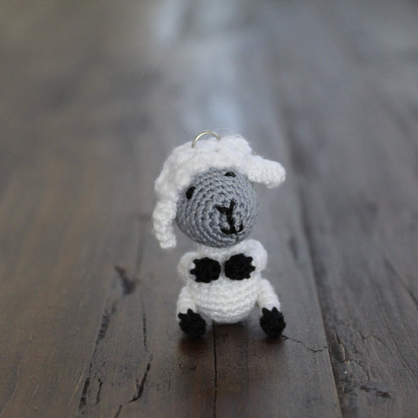 Little Lamb Crochet Keychain