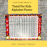 Tamil For Kids Alphabet Wall Poster
