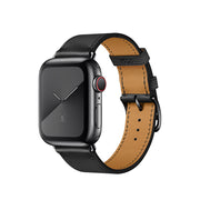 Fekete Bőr Apple Watch szíj