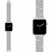 Ezüst Crystal Apple Watch szíj