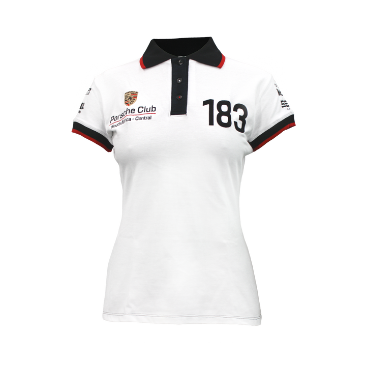 PCSA Central Golf Shirt Ladies Cotton White